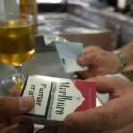 Venta de tabacos en bares